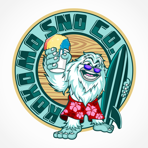 Sasquatch logo with the title 'Old school beach design logo for a younger crowd'
