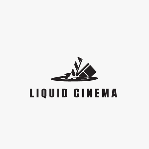 Cinema logo with the title 'Liquid Cinema Logo'