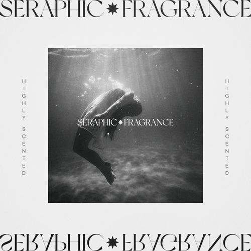 Fragrance design with the title 'SERAPHIC FRAGRANCE'