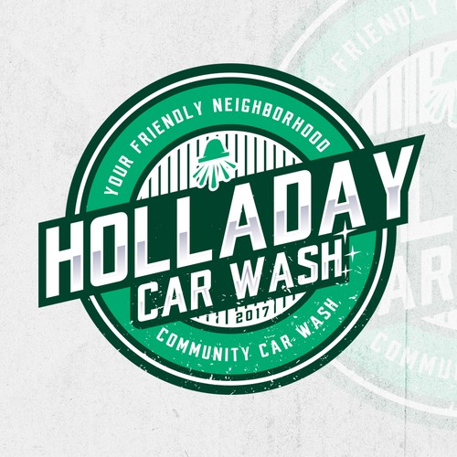 Grunge design with the title 'Holladay Car Wash'