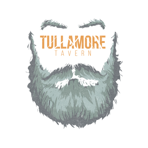 Beard brand with the title 'Rough and Bold logo design concept for Tullamore Tavern'