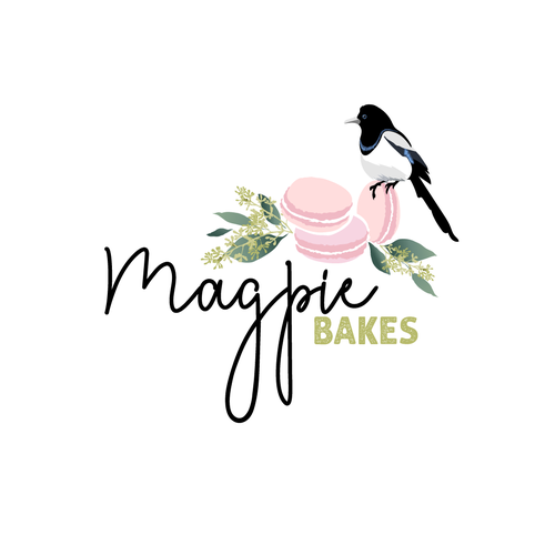 Magpie logo with the title 'Magpie bakes'