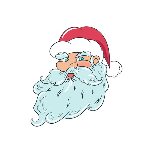 Santa Claus illustration with the title 'Santa Claus character design'