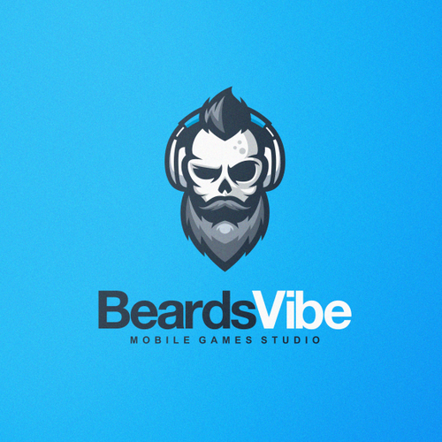 Hipster design with the title 'Bold and Strong Logo for BeardsVibe'