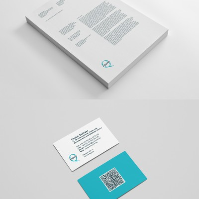 Letterhead And B Cards Design For Q-Found