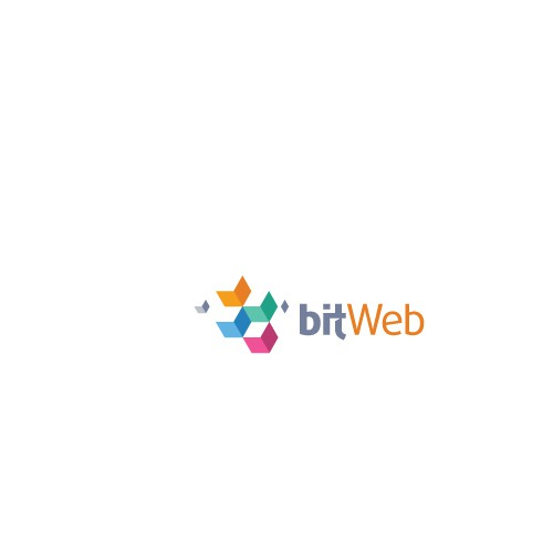 Flat logo with the title 'modern logo for web development business'