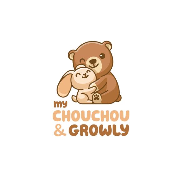 Hug logo with the title 'My ChouChou & Growly'