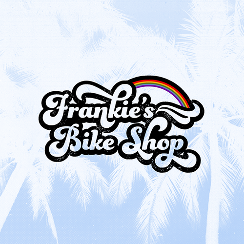 Disco design with the title 'vintage logo for beach bicycle shop'