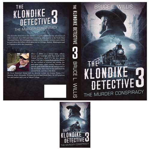 Retro book cover with the title 'The Clondike Detective book cover'