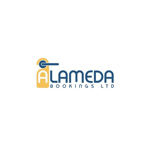 Indonesian design with the title 'Logo for ALAMEDA BOOKINGS LTD'