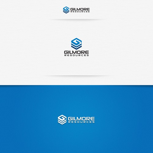 Cube design with the title 'Brand identity for Gilmore Resources'
