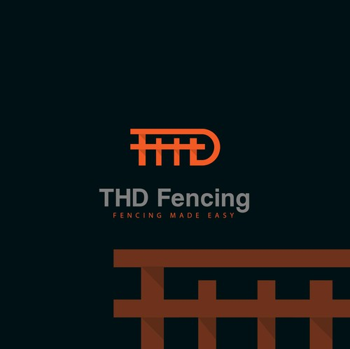 Fence design with the title 'THD fence'
