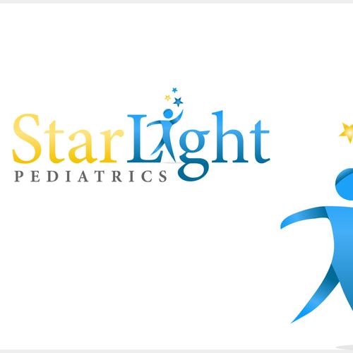 Star logo with the title 'Logo concept for pediatrics logo'