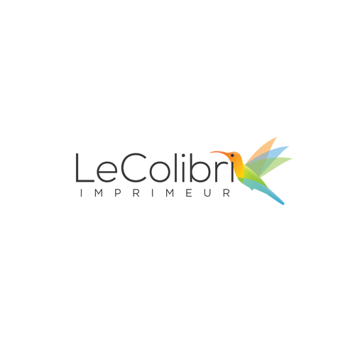 Overlapping design with the title 'Logo concept for Le Colibri'