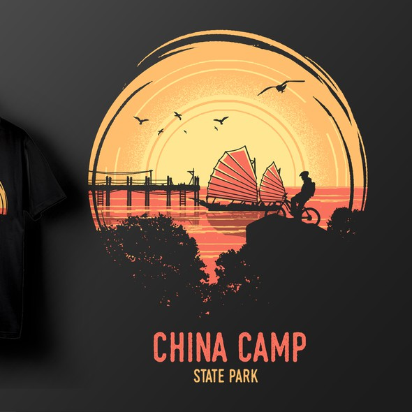 Silhouette t-shirt with the title 'China Camp State Park'