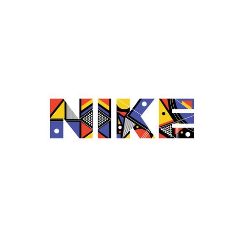 Bauhaus logo with the title 'Nike logo - Bauhaus style'
