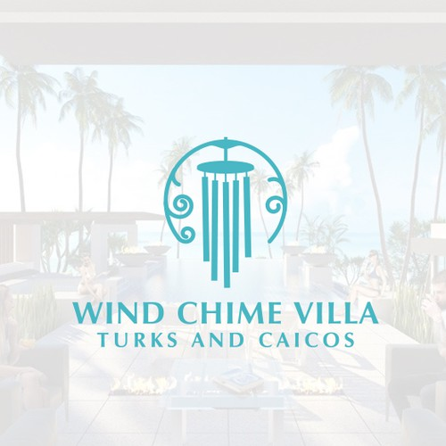 Wind logo with the title 'Wind Chime Villa'