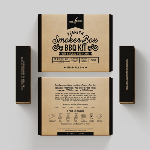 Barbecue design with the title 'Packaging Design'