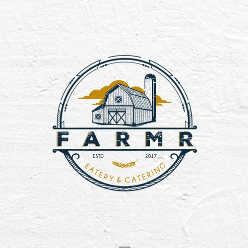 Eatery design with the title 'Vintage Logo For FARMR '
