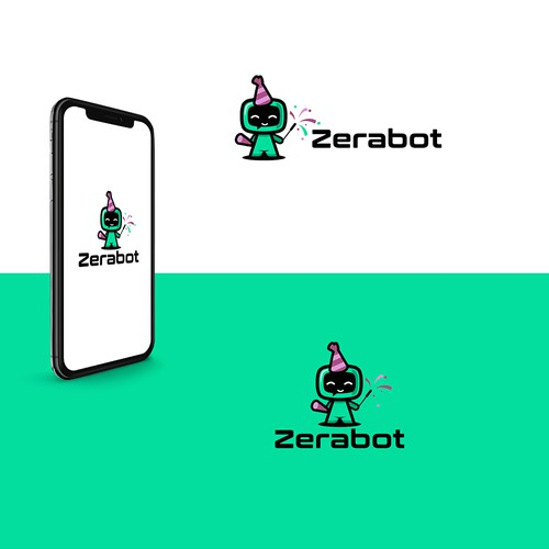 New Year's design with the title 'Zerabot'