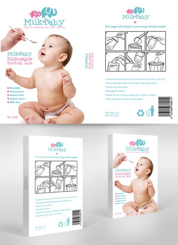 Baby food design with the title 'BABY PACKAGE DESIGN'