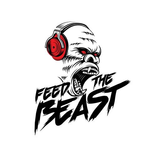 Headphone logo with the title 'Feed The Beast'