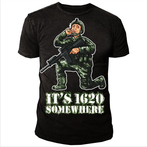 Helmet t-shirt with the title 'Illustration of Army Soldier High'