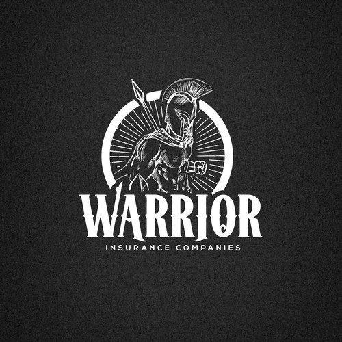 Powerful logo with the title 'Warrior insurance'