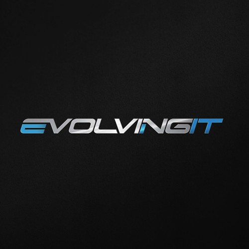 Silver design with the title 'EvolvingIT'