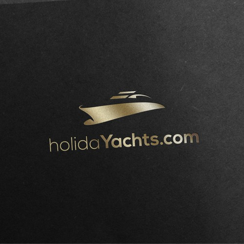 Yacht design with the title 'Elegant and beautiful yacht logo'