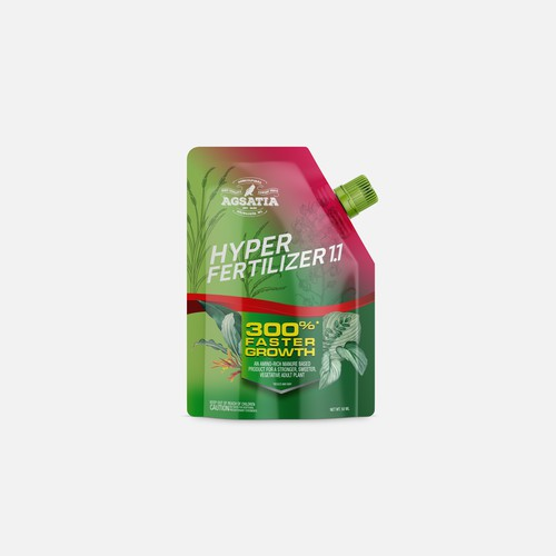 Brand packaging with the title 'Agsatia HyperFertilizer 1.1'