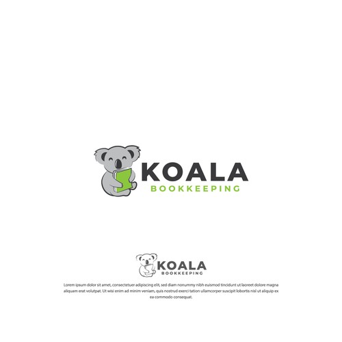 Bookkeeping logo with the title 'Koala Bookkeeping'