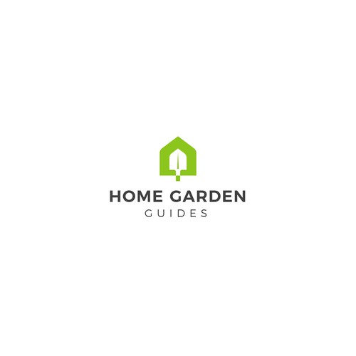 Landscaping logo with the title 'Home Garden Guides Logo'
