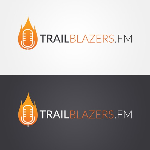 Trail logo with the title 'TrailBlazers.fm logo'