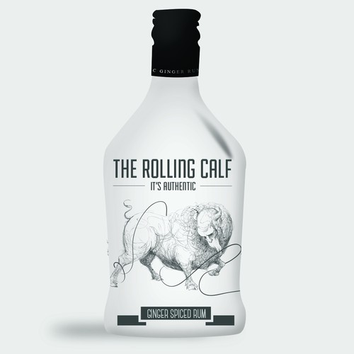 Alcohol packaging with the title 'Help a start-up create an amazing, cool, unique NEW TO WORLD Spiced Rum'