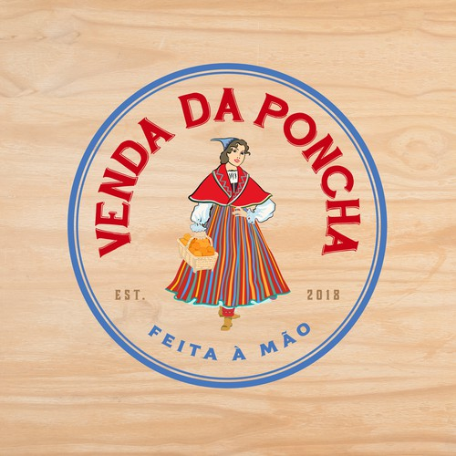 Street food logo with the title 'Logo for street vendor in Lisbon, Portugal.'