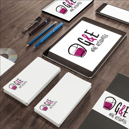 Violet logo with the title 'E&E Wine Accessories Logo'