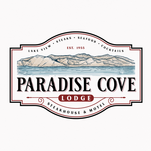 Victorian logo with the title 'Paradise Cove Lodge'