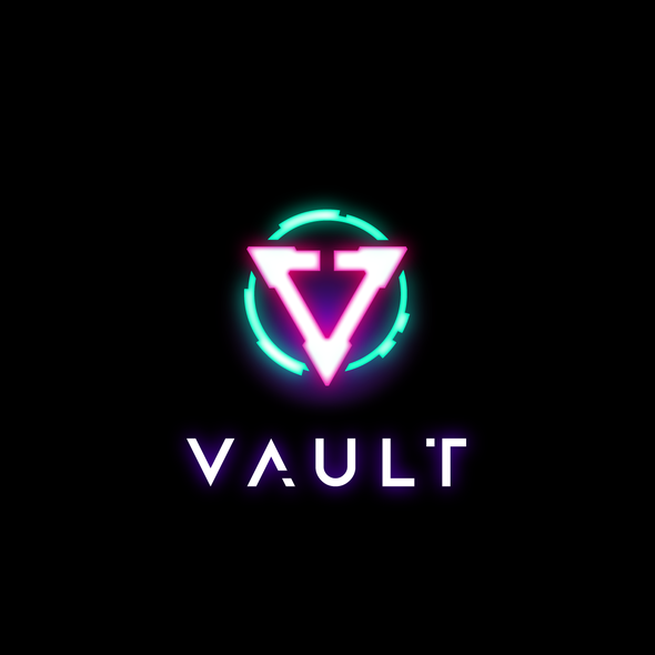 Glitch design with the title 'Cyberpunk Vault'