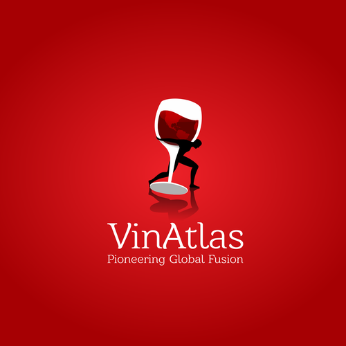 Atlas design with the title 'Wine logo'