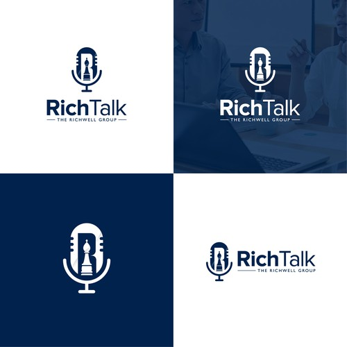 Rich logo with the title 'RichTalk Logo for The Richwell Group'