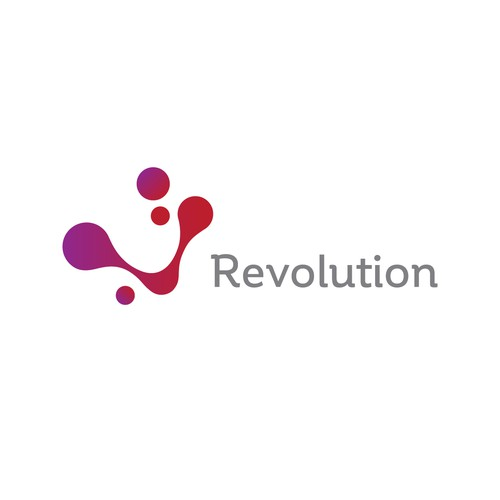 Flowing design with the title 'Modern logo concept for Revolution'