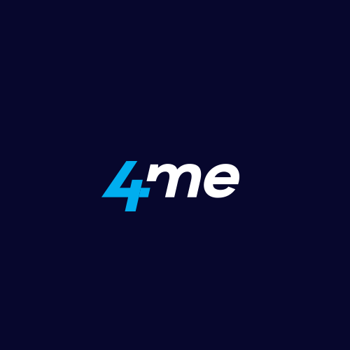 Service logo with the title '4me'