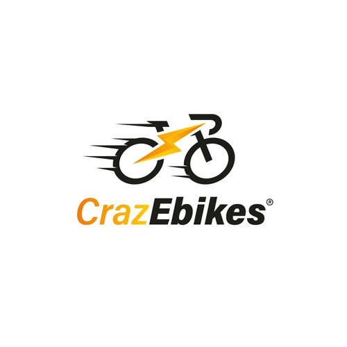 Bike logo with the title 'Electric Bike Brand Identity'