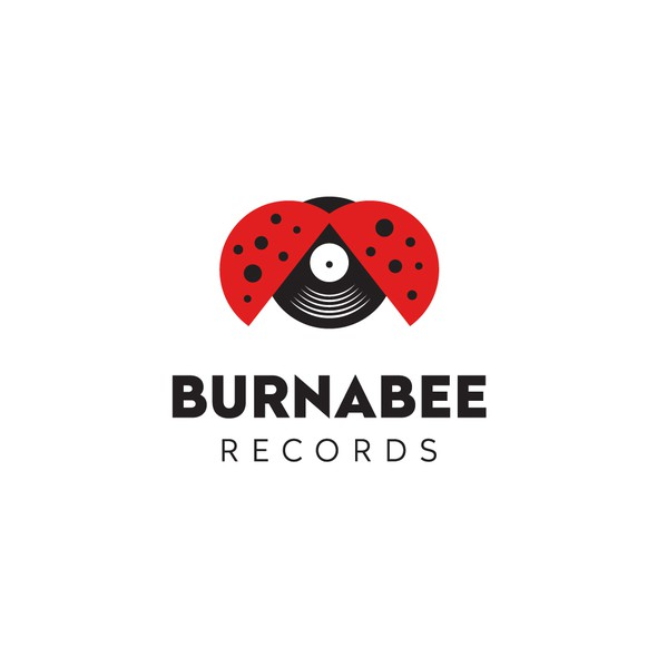 Ladybug design with the title 'Burnabee Records'