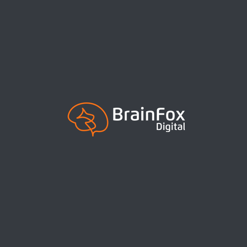 Brain brand with the title 'BrainFox logo concept'