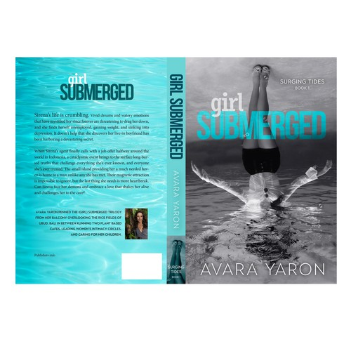 Fiction book cover with the title 'cover Girl Submerged'