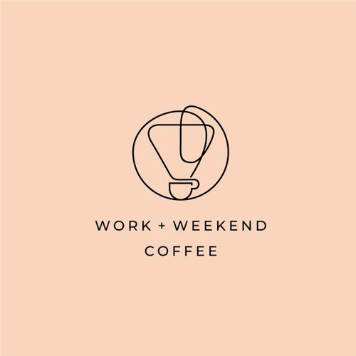 Relaxation logo with the title 'Work + Weekend Coffee'