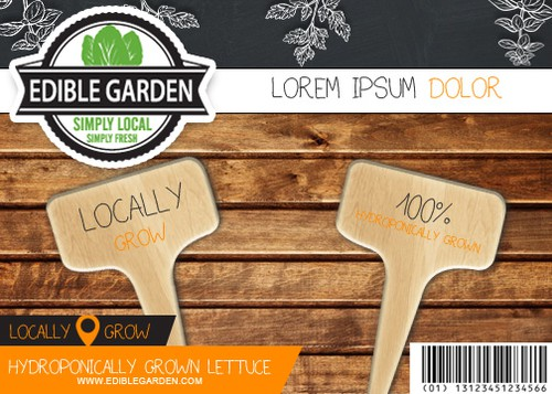 Bio packaging with the title 'edible garden'