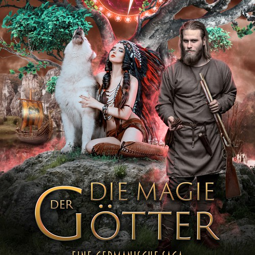 """Mythical design with the title '""""Die Magie der Götter"""" - Book Cover'"""